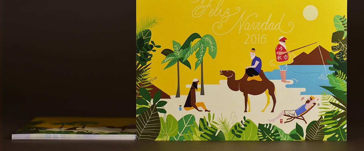 Tarjeta promocional diseñada para nuestros clientes presentes y futuros. Tea for two - estudio de diseño gráfico.