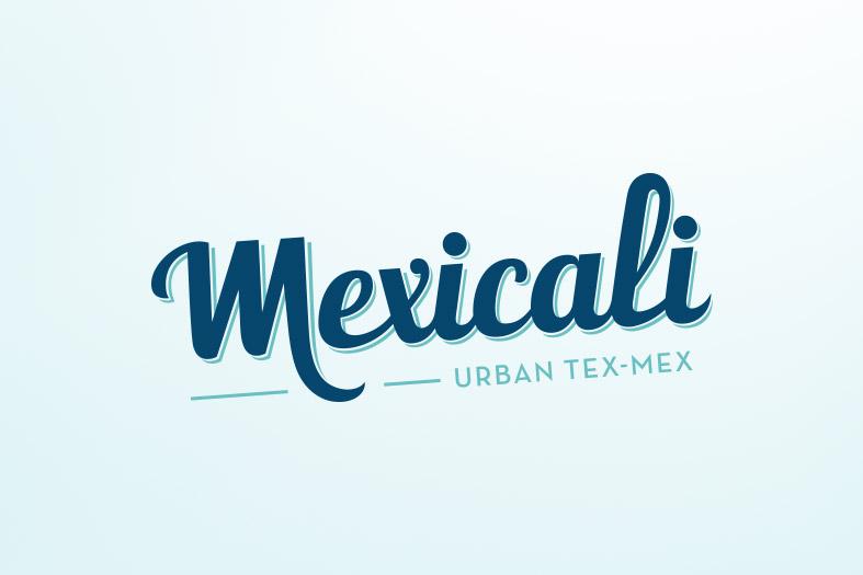 Diseño de logotipo para los restaurantes Mexicali. Tea for two - identidad corporativa.