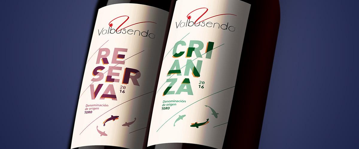 Wine labels design for Valbusenda. Tea for two - graphic design studio.