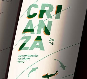 Mobile version of geometric wine labels for Valbusenda. Tea for two - graphic design studio.