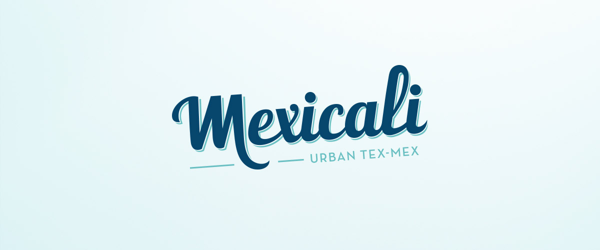 Logo design for the Mexicali restaurants. Tea for two - graphic design studio.