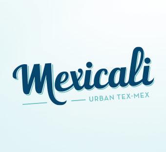 Versión para dispositivos móviles del diseño de logotipo de Mexicali, restaurantes tex-mex. Tea for two - estudio de diseño gráfico.