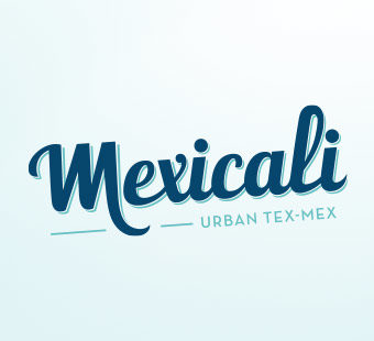 Mobile version of the logo design for the Mexicali restaurants. Tea for two - graphic design studio.