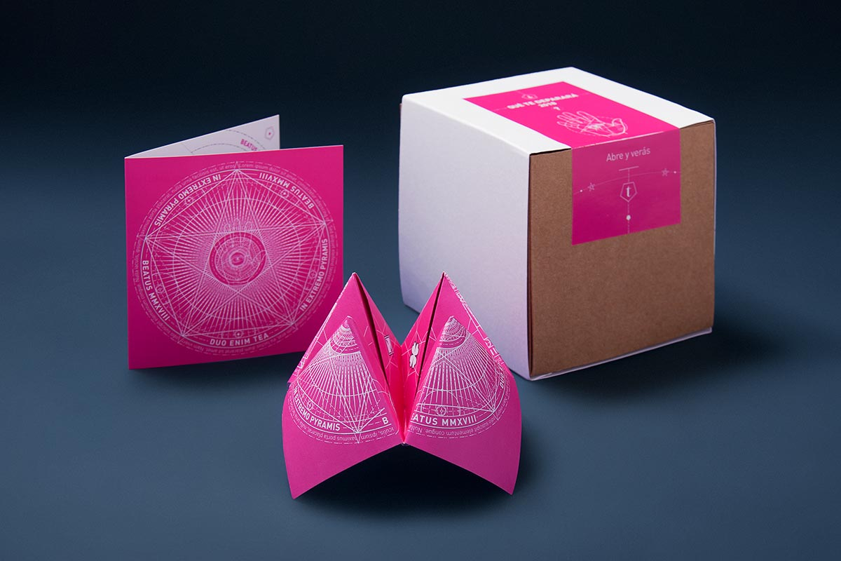 Diseño de felicitaciones para clientes de Tea for two. Tea for two - packaging Madrid.