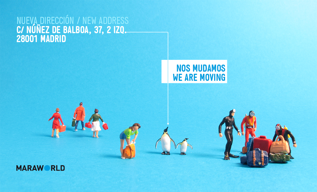 Image for illustrating the office move of the International Festival of Benicàssim. It was used in their newsletter design. Tea for two – professional web design services.