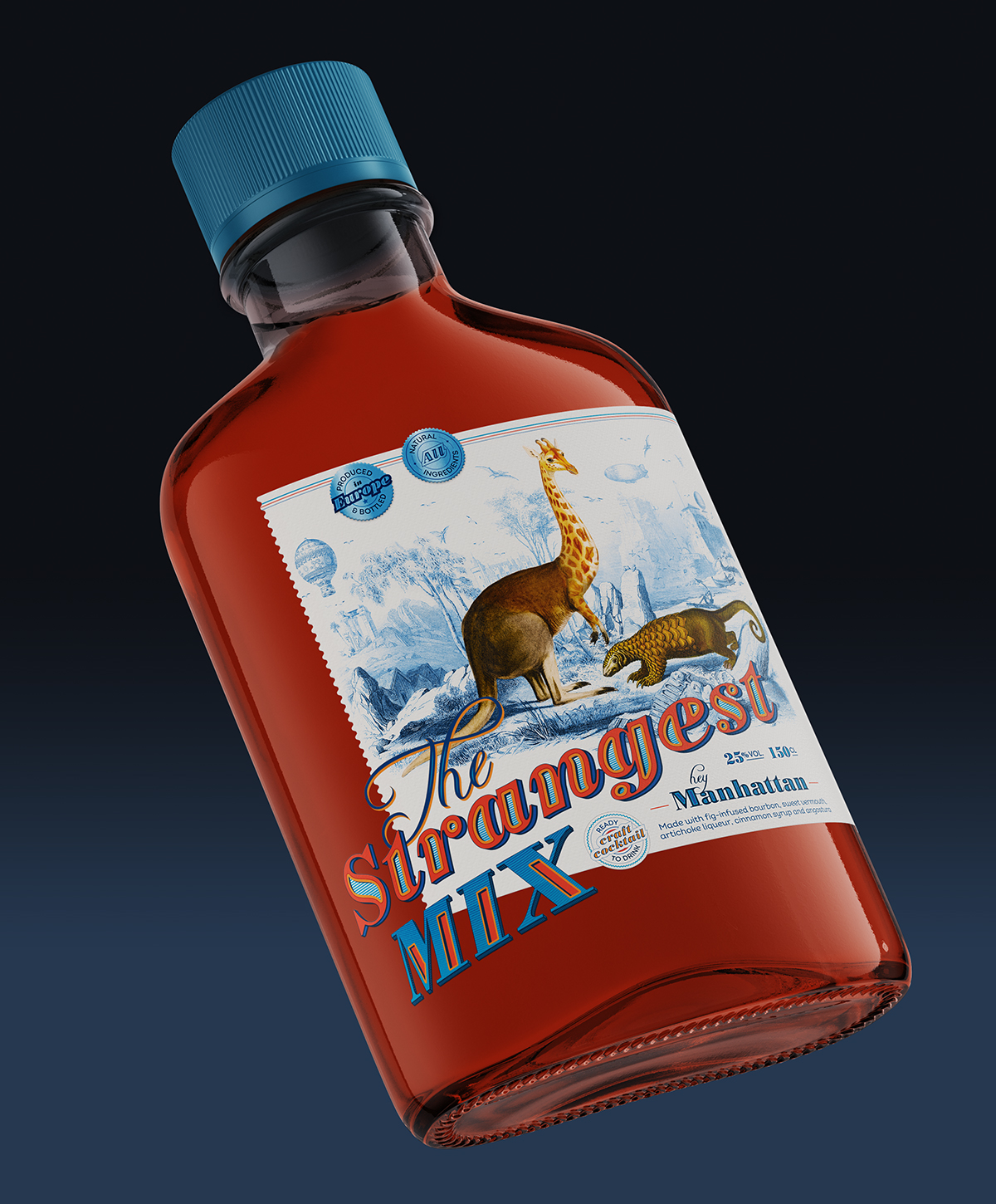 bottle-label-design-the-strangest-mix-2